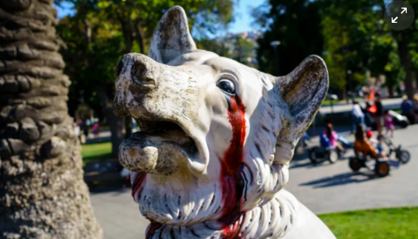 Bloody eye sockets, defaced statues: the visual legacy of Chile's unrest