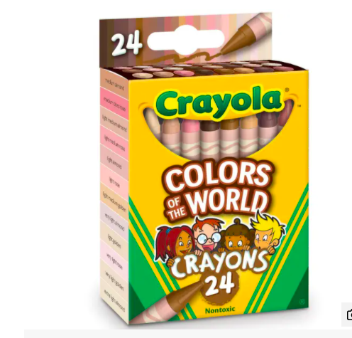 'COLOURS OF THE WORLD' CRAYOLA SET REPRESENTS 40 DIFFERENT SKIN TONES