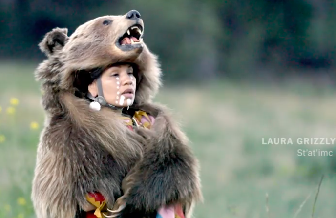 Dancing as the Spirit of the Wild Grizzly Bear