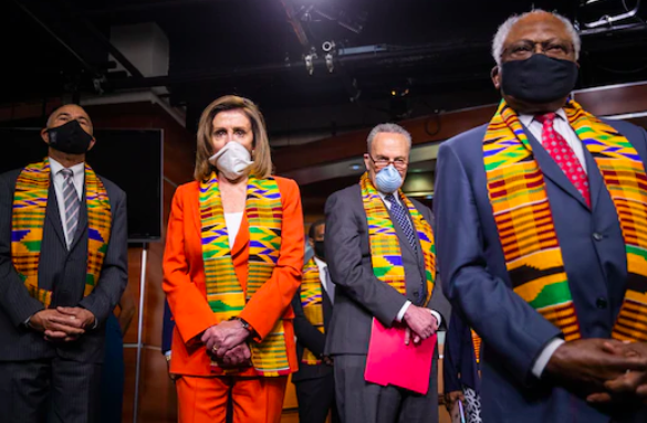 Congress's kente cloth spectacle was a mess of contradictions