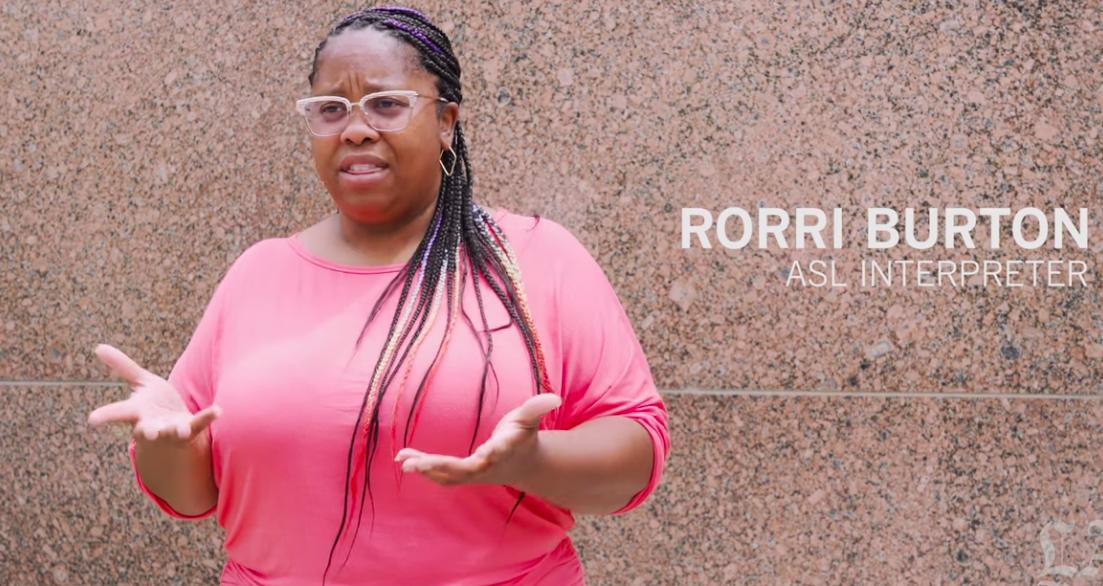 An ASL interpreter's message: Black Lives Matter