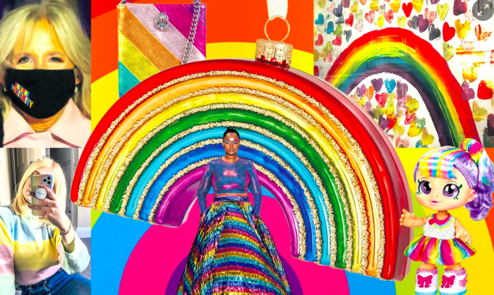 Rainbow bright! How the symbol of optimism and joy spread across our clothes, homes and lives in 2020