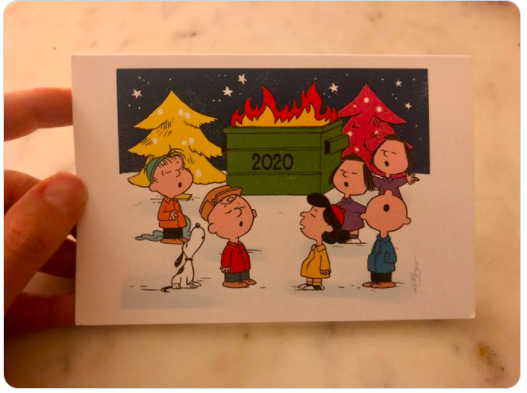 How holiday cards help us cope with a not-so-merry year, according to a professor of comedy