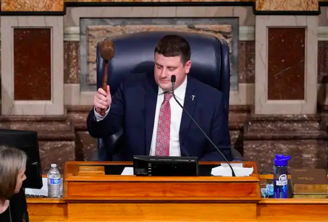 Iowa's House speaker said he can't make lawmakers wear masks — but he did enforce a ban on jeans