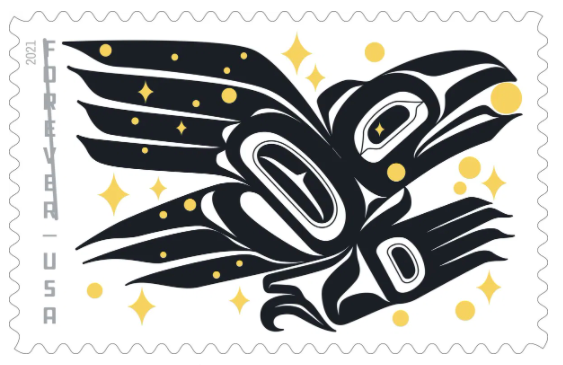 First US Stamp by Alaska Native Person Spotlights Tlingit Lore