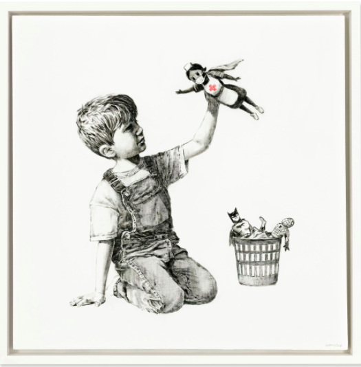 Banksy's Game Changer sells for record £16.7m in aid of charities supporting the NHS