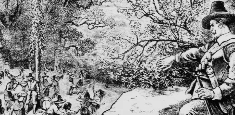 The Pilgrims' attack on a May Day celebration was a dress rehearsal for removing Native Americans
