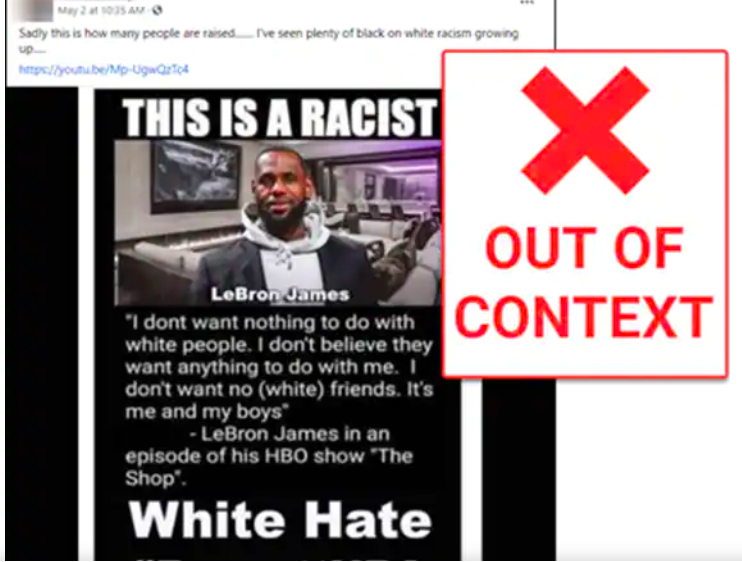 Twisting LeBron James's words, a fake Saturn photo and other news literacy lessons