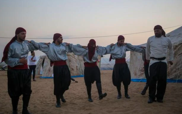 Tent city nights: Gaza's dance of resistance unites Palestinians