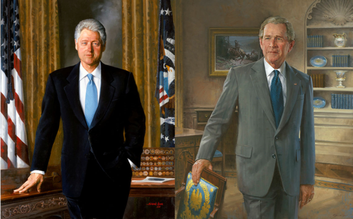 White House Removes Bill Clinton and George W. Bush Portraits From Entrance Hall