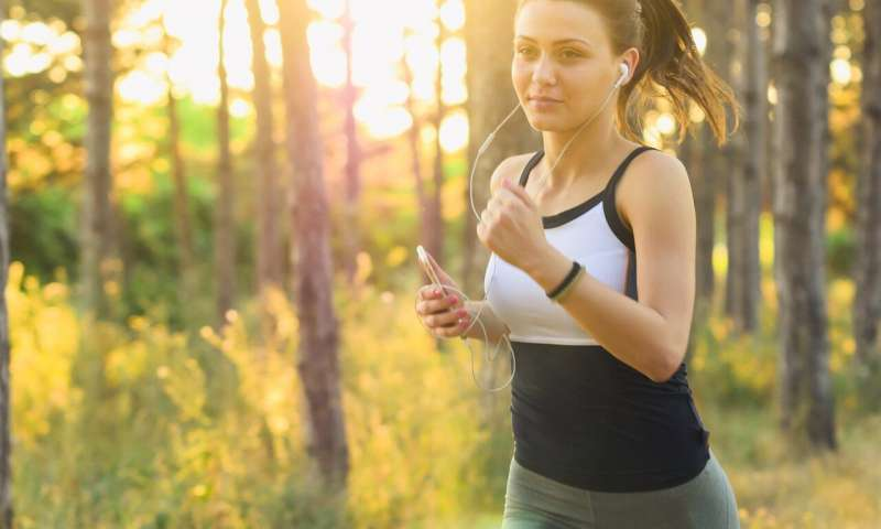 Tunes for training: High-tempo music may make exercise easier and more beneficial