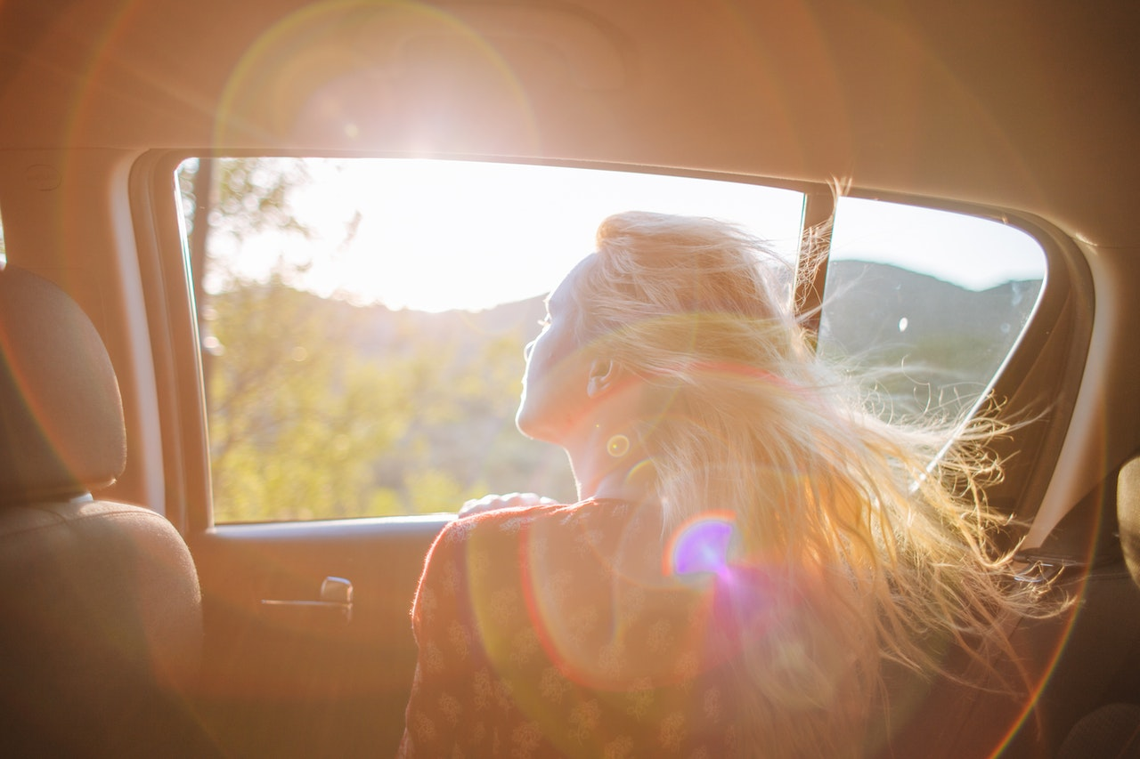 The sound of music – in open car windows.
