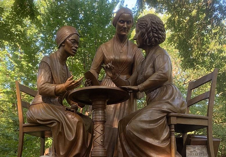 Central Park gets its first monument honouring women's rights advocates on 100th anniversary of suffrage